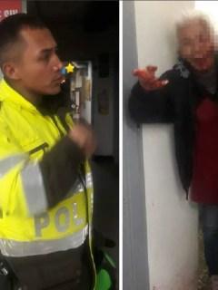 Policía acusado de golpear a la adulta mayor