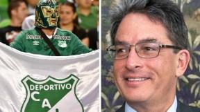 Hincha del Cali y Alberto Carrasquilla