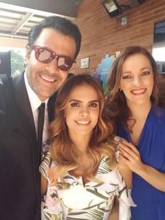 Humberto 'el Gato' Rodríguez, Vanessa Peláez y Alexandra Restrepo