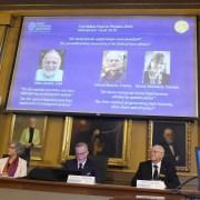 Momento del anuncio del Nobel de Física
