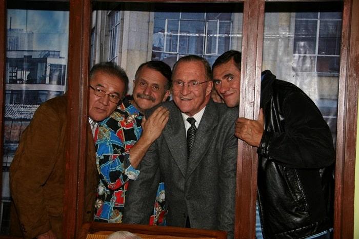 Norberto López, Álvaro Lemmon, Enrique Colavizza y Marcelino Rodríguez, ('Mandibula'), humoristas.