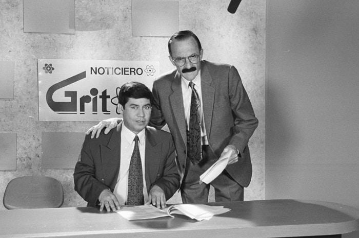 Heriberto Sandoval y Enrique Colavizza, humoristas.