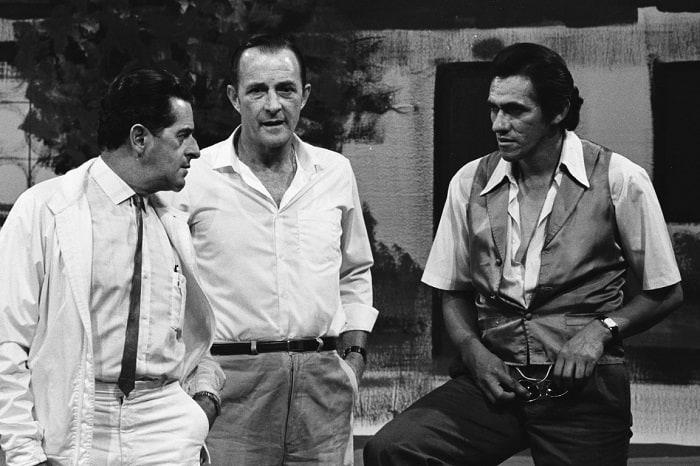 Enrique Colavizza con Jairo Patiño y 'Mandíbula', humoristas.