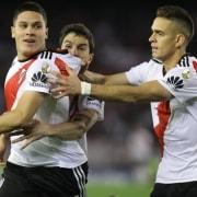 Juan Fernando Quintero y Rafael Santos Borré (River Plate)