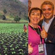 Campesino, Claudia Ortiz e Iván Duque