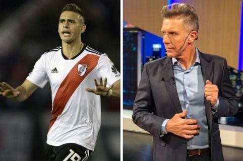 Rafael Santos Borré y Alejandro Fantino