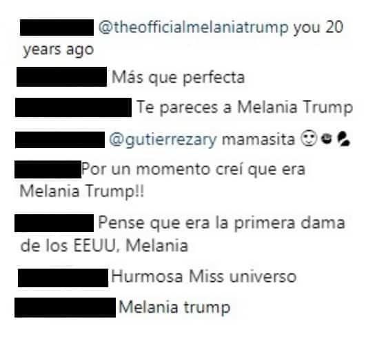 Comentarios publicación Ariadna Gutiérrez