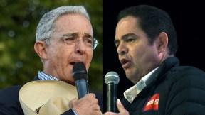 Álvaro Uribe Vélez y Germán Vargas LLeras