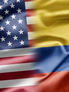Bandera Estados Unidos y Colombia 900