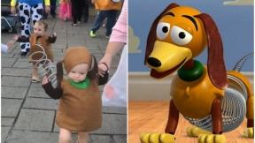 Niño disfrazado de 'Toy Story'.
