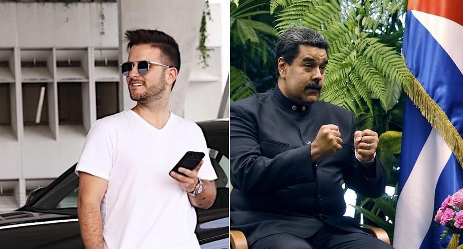 Juan Manuel Barrientos, chef, y Nicolás Maduro, presidente de Venezuela.