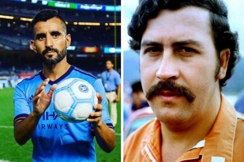 Maxi Moralez y Pablo Escobar