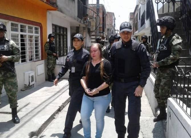 Mujer capturada en Cali