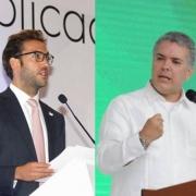 Martín Santos e Iván Duque