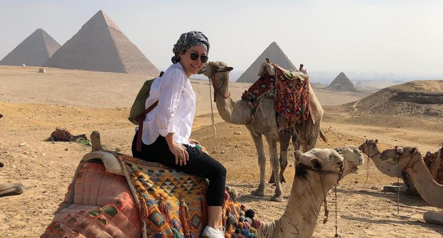 Flavia Dos Santos, en Egipto