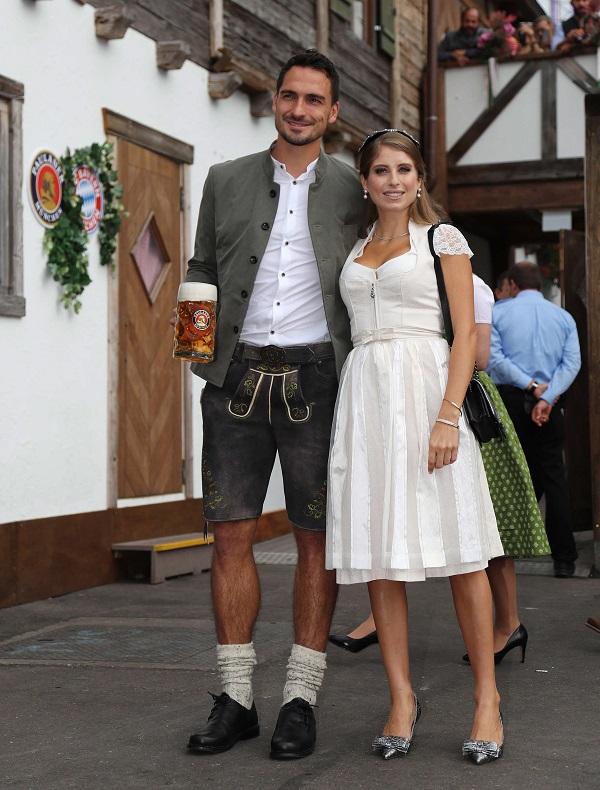 Mats Hummels y su esposa Cathy