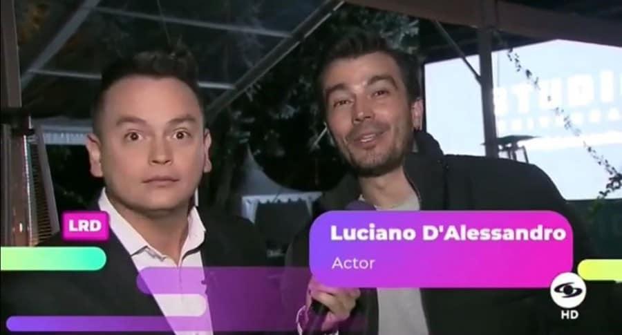Luciano D'Alessandro, actor, en entrevista en 'La red'.