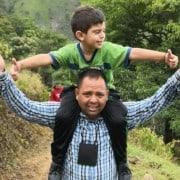 Cristo José y su papá