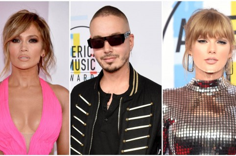 JLo, J Balvin y Taylor Swift