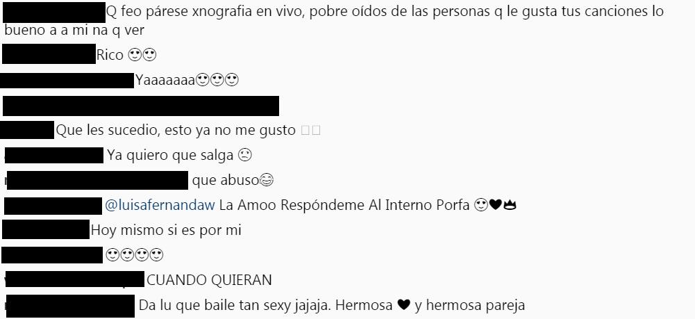 Comentarios Instagram Legarda