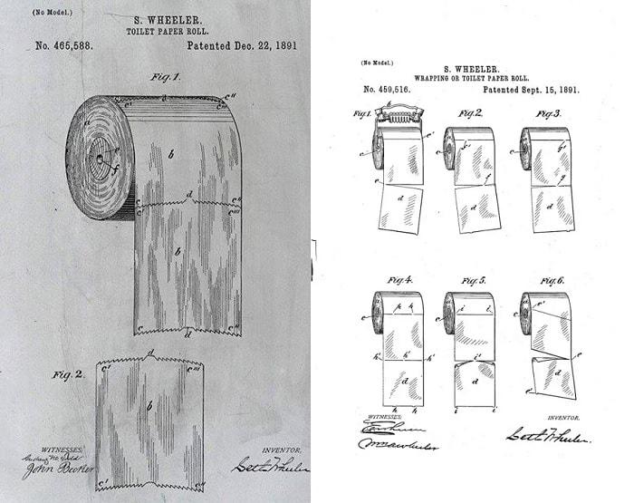 Patente papel higiénico