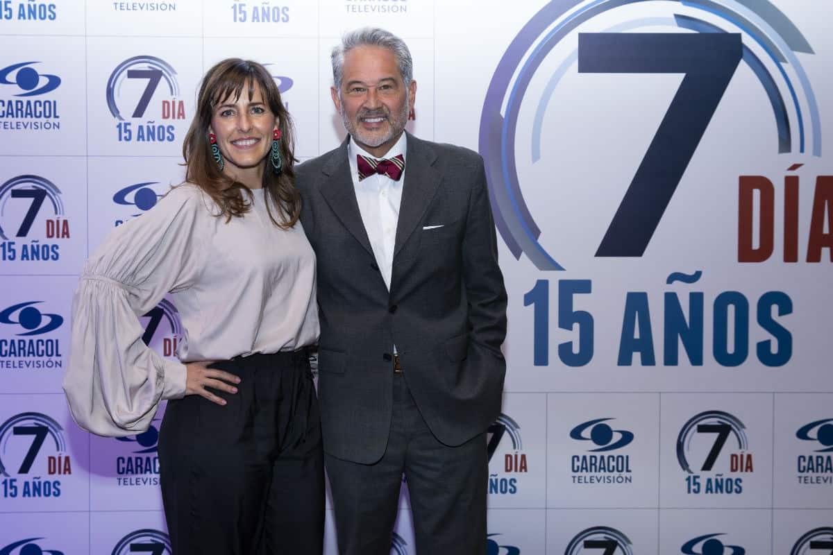 Ani Zamorano y su esposo Manuel Teodoro director y presentador de Séptimo Día