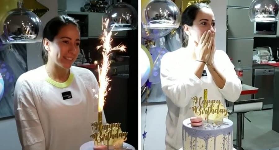 Mariana Pajón celebrando su cumpleaños