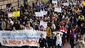 Marcha estudiantil Italia