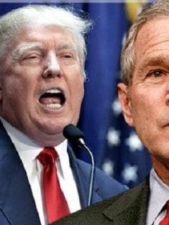 Trump y George W. Bush