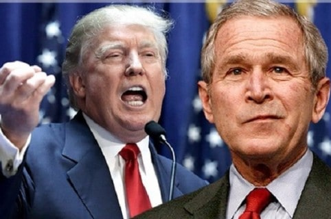 Trump y George W. Bush