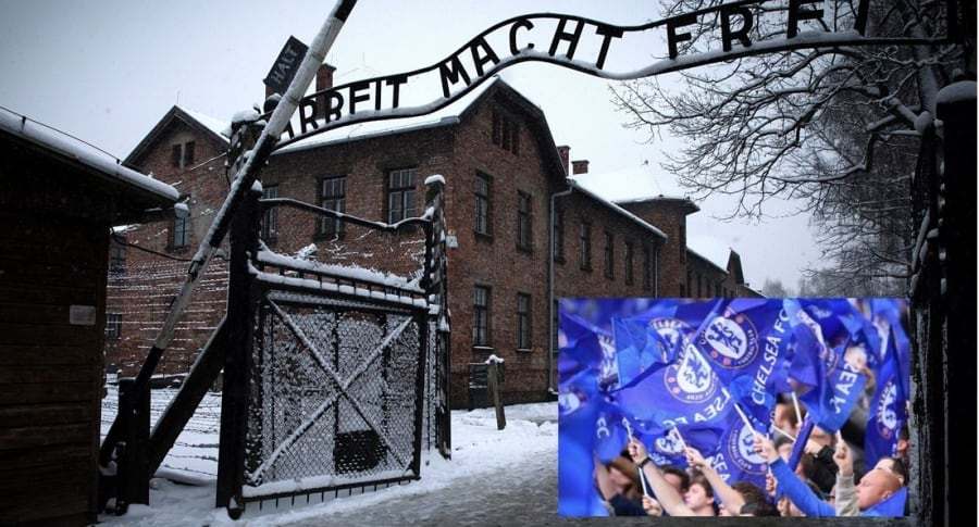 Auschwitz  y fans del Chelsea