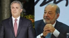 Iván Duque y Carlos Slim