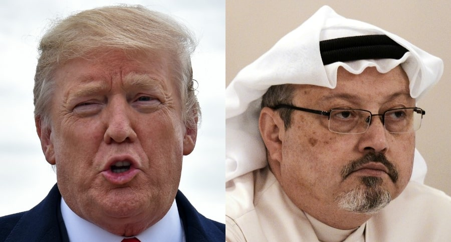 Donald Trump y Jamal Khashoggi