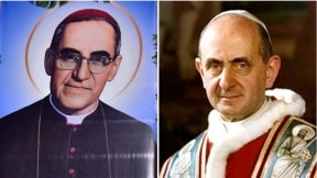 Óscar Arnulfo Romero Galdámez y Pablo VI