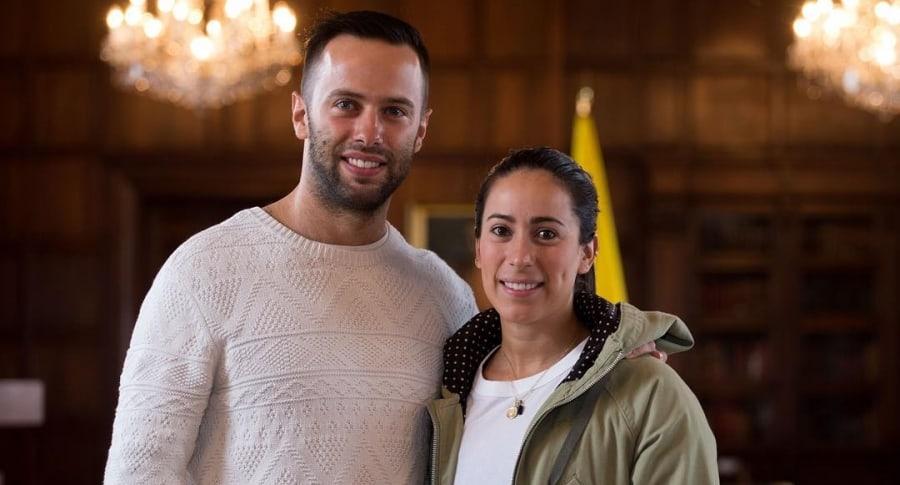 Mariana Pajón y su esposo Vicent Pelluard