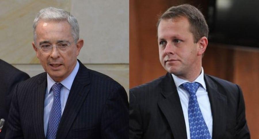 Álvaro Uribe y Andrés Felipe Arias