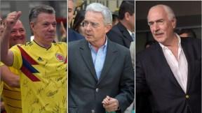Juan Manuel Santos, Álvaro Uribe y Andrés Pastrana
