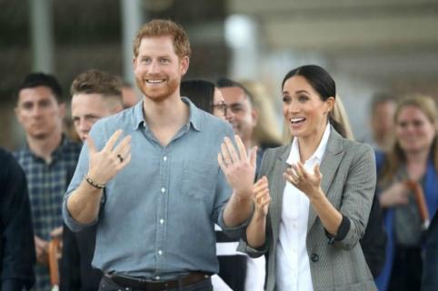 Príncipe Harry y su esposa, Meghan Markle.
