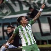 Dayro Moreno e hinchas de Nacional