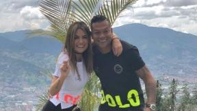 Sara Uribe, presentadora, y Fredy Guarín, futbolista.