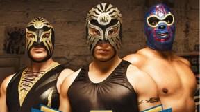 Poster de 'Por la máscara'.
