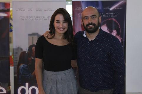 Majida Issa, actriz, y Felipe Martínez, director.