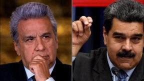 Lenín Moreno y Nicolás Maduro