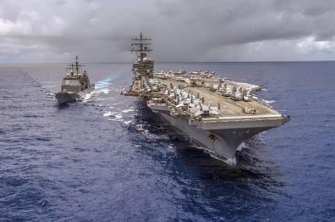 Portaviones militar USS Ronald Reagan