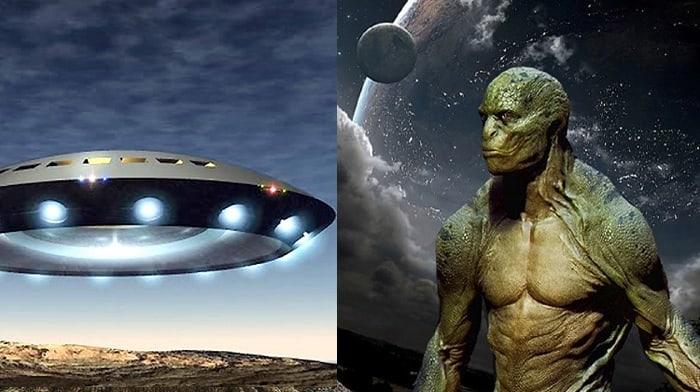 Nave espacial y Reptiliano