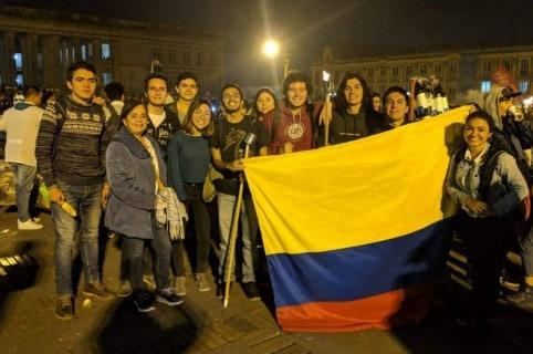 Marcha antorchas en Bogotá