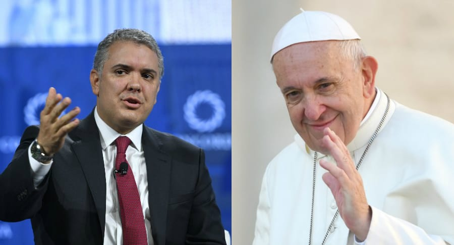 Iván Duque y papa Francisco