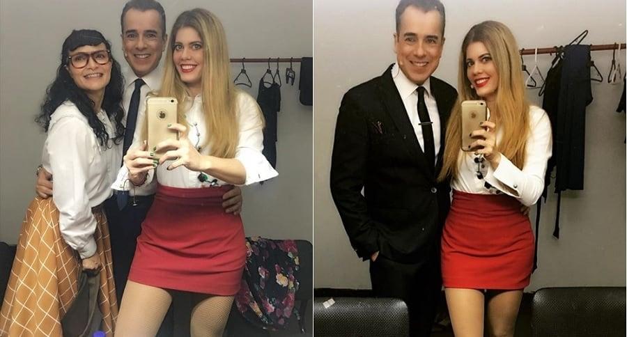 Ana María Orozco, Jorge Enrique Abello y Lorna Cepeda, actores.