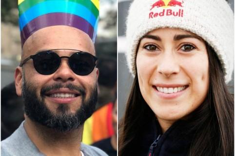 Carlos Vargas y Mariana Pajón