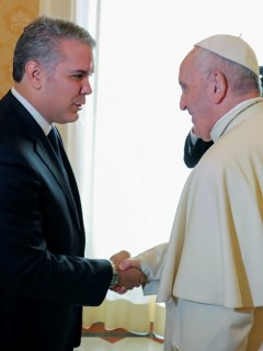 Papa Francisco e Iván Duque